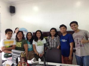 (L-R) PEJC Intern James Pialago; PVOB co-founder Edna Lee, Volunteer Coordinator, Monica Manluluyo and co-founder Mishka Watin; PEJC Intern Ranielle Cagang; SCAP Chairman Chao Cabatingan; and UPS Member Edrian Belongilot