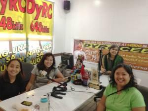 Volunteer Coordinator Monica Manluluyo, Co-Founders Edna Lee and Mishka Watin as guests of Atty Gloria Ramos of the PEJC