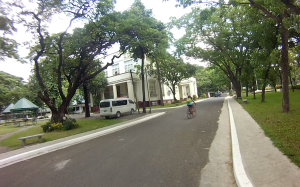 Biking towards UP Cebu's AVR-2