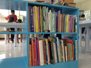 Books donated to the library