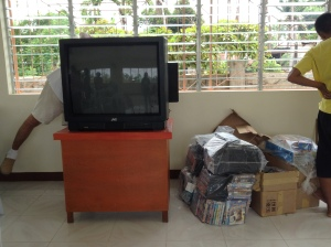 Donated TV & DVDs