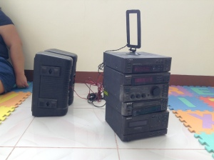 Donated radio and sound system