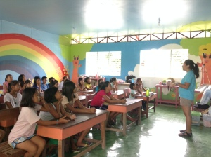 Afternoon workshop at the Brgy Tindog school
