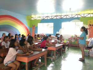 Afternoon workshop at the Brgy Tindog school
